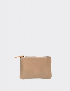 Taupe Small Flat Pouch