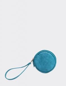 Blue Round Wallet