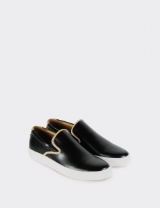 Black Kelp Slip-On Sneakers