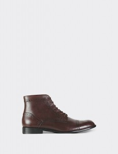 Burgundy Captoe Brogues Boots