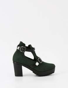 Dark Green Aumy Ankle Boots