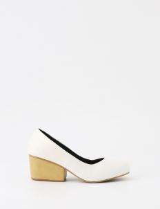 White Naomi Heels