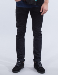 Two Tone Patch Slim Jeans