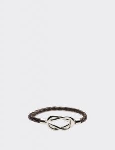 Brown Leather Infinity Loop Bracelets