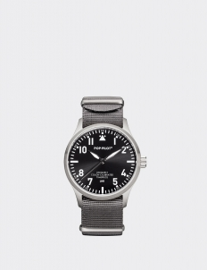 Gray Monochrome Pop-Pilot Watch