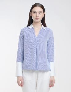 Light Blue Stripes Armelle Shirt