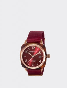 Gold Red Clubmaster Classic Acetate HMS Watch