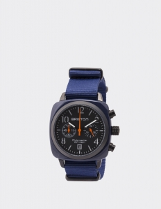 Navy Military Clubmaster Classic Acetate Chronograph Watch