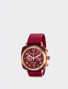 Red Clubmaster Classic Acetate Chronograph Watch