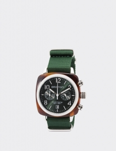 British Green Clubmaster Classic Acetate Chronograph Watch