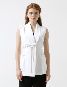 White Étiole Belted Vest