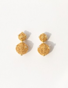 Gold with Diamond Earrings