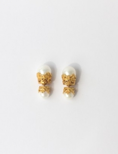 Gold with Pearl Earrings
