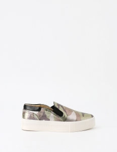 Green Chelsea Slip On Sneakers