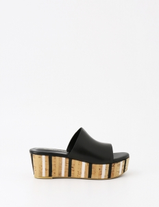 Black Hanna Wedge Sandals