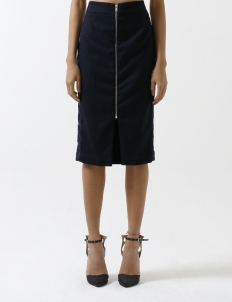 Navy Blue Pencil Skirt