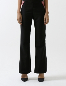 Red Pocket Black Trousers