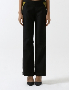 Green Pocket Black Trousers