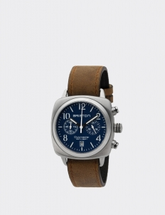 Navy Blue Clubmaster Classic Steel Chronograph Watch