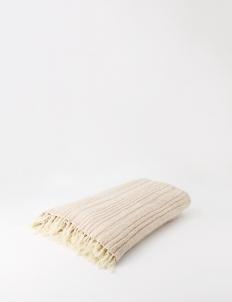 Cream Latte Knit Blanket