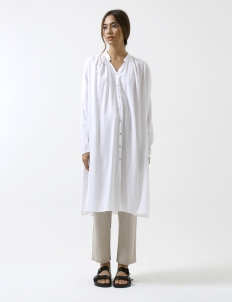 White Slit Button Shirt