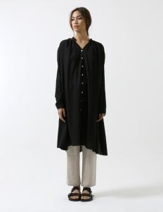 Black Slit Button Shirt