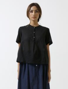 Black Modern Sheer Shirt