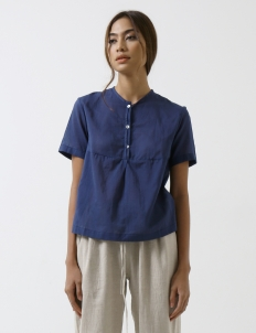 Indigo Modern Sheer Shirt
