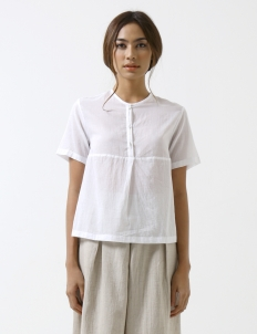 White Modern Sheer Shirt