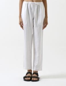 White Drawstring Resort Pants