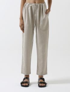 Natural Flax Drawstring Resort Pants