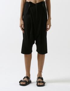 Black Drape Midi Harem Pant