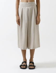 Natural Flax Make Peace Culotes
