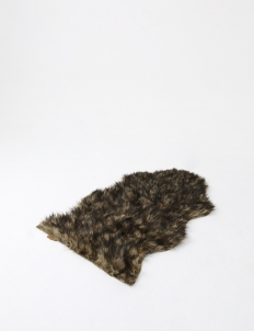 Black Brown Faux Fur Rug