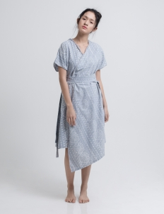 Gray Wira Kimono Batik Dress