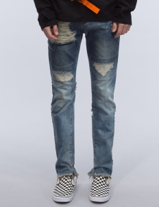 Heavy Distressed Stonewashed Jeans