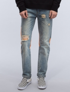 Triangle Patchwork Jeans