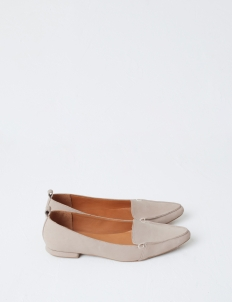 Beige Hepburn Flat Shoes