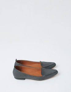 Dark Gray Hepburn Flat Shoes