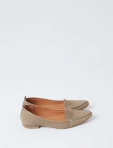 Mocha Hepburn Flat Shoes
