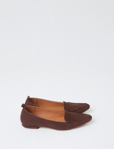 Dark Brown Hepburn Flat Shoes