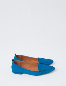 Blue Hepburn Flat Shoes