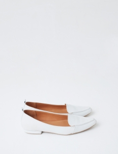 White Hepburn Flat Shoes