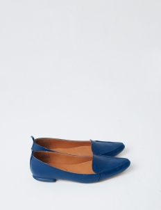 Royal Blue Hepburn Flat Shoes