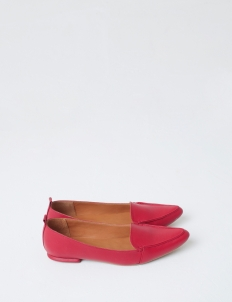Red Hepburn Flat Shoes
