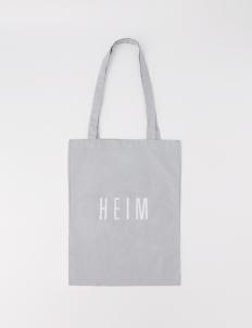 Gray Mini Linen Tote Bag