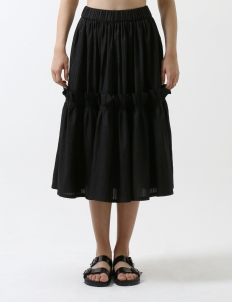Black Bomb Gathered skirt