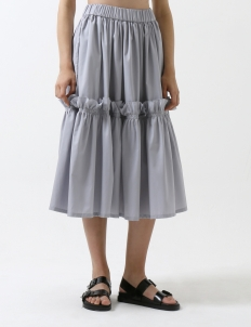 Gray Bomb Gathered skirt