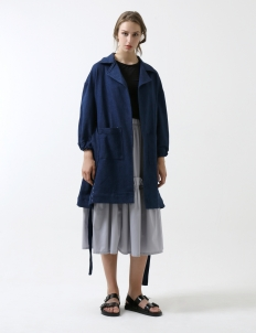 Blue Side Godet Jacket