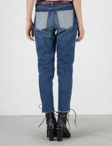 Blue Knee Crash Skinny Pants